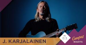 J. Karjalainen Kokkolassa 13.3.2020